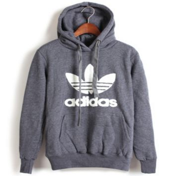 """Adidas"" Print Hooded Pullover Tops Sweater Sweatshirts 10/Color"