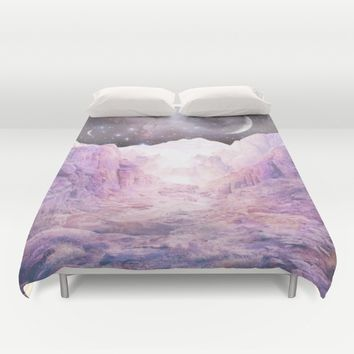 Misty Mountains Duvet Cover by Starseed Designs