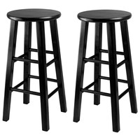 Winsome Wood Obsidian Counter Stool With Square Leg Stools (Set of 2)