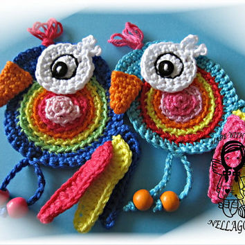 Crochet PATTERN, Applique Parrot, Patch, Application, Lorikeet, Bird, DIY Pattern 161
