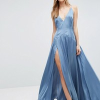 ASOS Cami Panelled Thigh Split Maxi Dress at asos.com