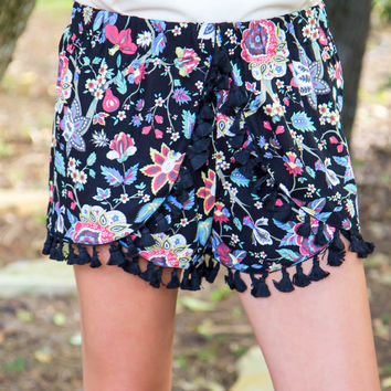 Floral Fashionista Shorts - Final Sale