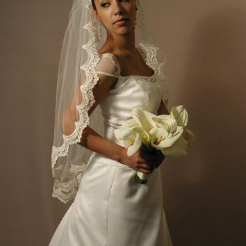 "42"" Gather Top Mantilla Veil"