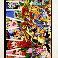 digimon season 1 Z0738 iPad 2 3 4, iPad Mini 1 2 3, iPad Air 1 2 , Galaxy Tab 1 2 3, Galaxy Note 8.0 Cases