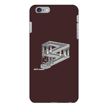 some game involving falling blocks in the style of m.c. escher iPhone 6/6s Plus Case
