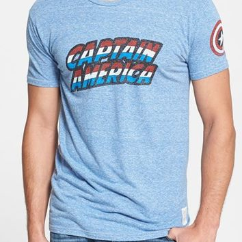 Retro Brand 'Captain America' Slim Fit T-Shirt