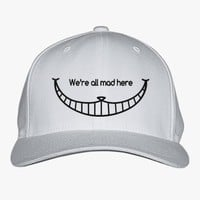 We Are All Mad Here - Cheshire Cat Embroidered Baseball Cap
