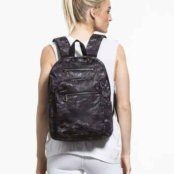 Backpack Bag in Black Camo