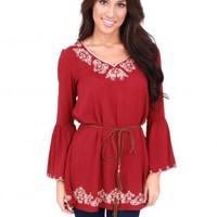 Small Town Girl Burgundy Top | Monday Dress Boutique