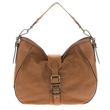 Burberry Women's Medium Soft Leather Hobo Tan