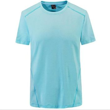Hiking Shirt Combat  Shipping-NEW Laynos HQ Summer Men's Round Collar Breathable lovers Short-sleeve Gym Sport Quick Thin dry T-shirt 182A536A KO_15_1