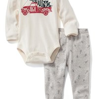 Old Navy Holiday Bodysuit And Legging Set For Baby