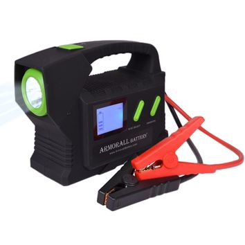 Armor All A24 24V 3300mAh Battery Jump Starter & Power Bank w/LED Light, 2.1A 10.5W USB Charging Port & 8 Power Tips