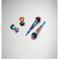 Wavy Rainbow Plug and Taper Set
