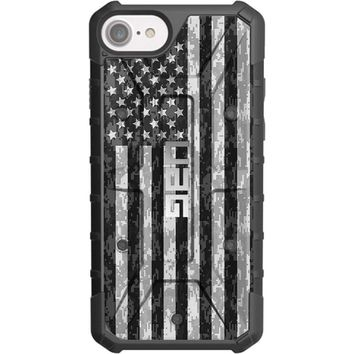 """LIMITED EDITION - Authentic UAG- Urban Armor Gear Case for Apple iPhone 8/7/6/6s (Standard 4.7"""") Custom by EGO Tactical- US Subdued Flag, Reversed over Digital Camo"""