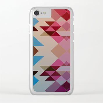 Abstract geometric I Clear iPhone Case by eDrawings38