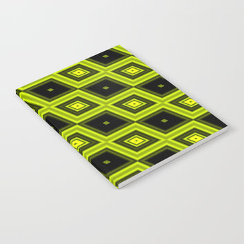 Black and Yellow Diamonds Notebook by 11penguingirl