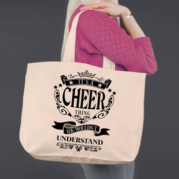 It's a Cheer Thing | Personalized Canvas Tote Bag