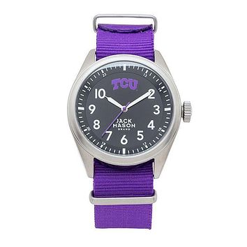 TCU Horned Frogs Men's Nato Solid Strap Watch by Jack Mason