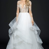 Hayley Paige Lorelei Embroidered Tulle Ballgown | Nordstrom