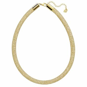 Swarovski Golden Crystal STARDUST DELUXE Necklace, Yellow Gold -5180852