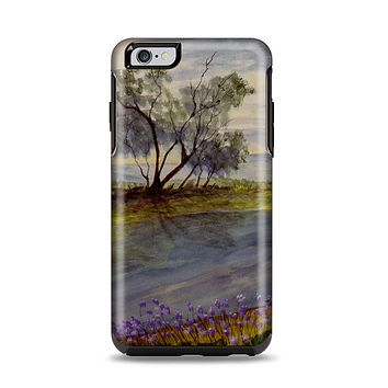 The Watercolor River Scenery Apple iPhone 6 Plus Otterbox Symmetry Case Skin Set