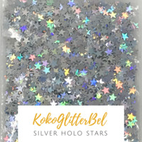 Holographic Stars- Silver