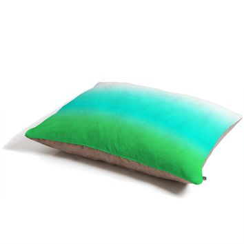 Natalie Baca Aquamarine Ombre Pet Bed