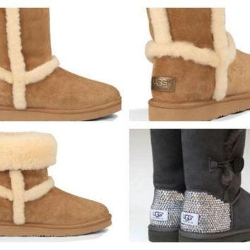 CREY1O Custom UGG Boots made with Swarovski Free: Shipping, Repair Kit, Cleaning Kit, Crystal
