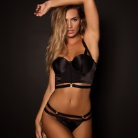 Limited Edition Black Label Playboy Commander Mini V Knicker - Black