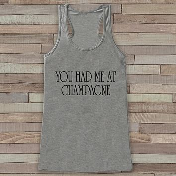 Happy New Years Tank Top - Pop the Champagne - Drinking Tank - Womens Tank Top -  Grey Tank - Grey Tank Top - Funny New Years - Workout Top