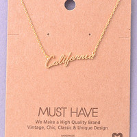 """California"" Necklace"