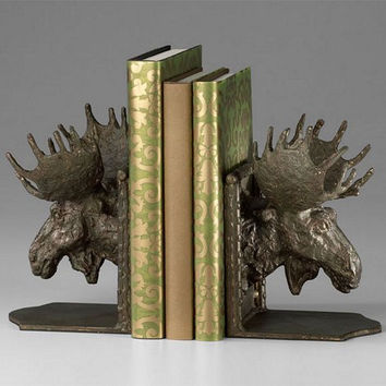 Cyan Design Moosehead Bookends - 03072
