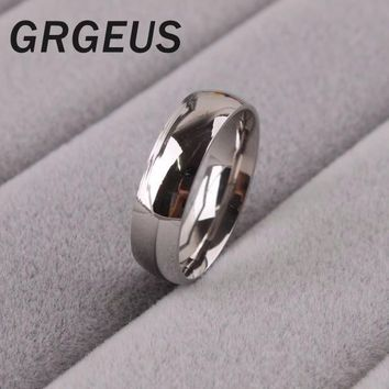 Simple eternal faith 8mm Classic Silver Color Wedding Ring for Men Stainless Steel anillo US size 6/7/8/9/10/11/12/13/14
