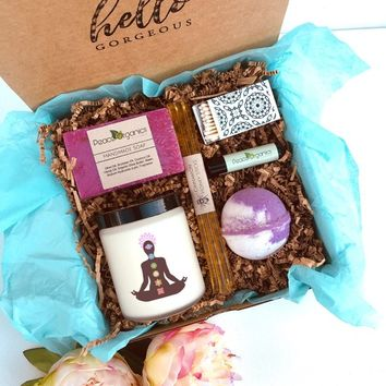 Meditation Spa Set Chakra Gift Yoga Gift Hippie Gift Relaxation Box Hindu Gift Buddhist Gift Relax Kit Stress Reduction Gift Ceremony Gift