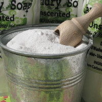 Powdered Laundry Soap 24oz Package Environmentally Friendly Eco Clean 64+ Loads Unscented or Choose A Scent