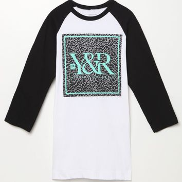 Young & Reckless Coral Trade Raglan T-Shirt - Mens Tee - Black