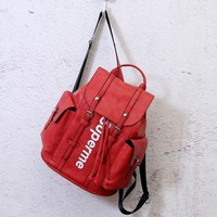 Supreme fashion trend leather backpack bag F