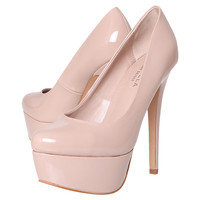 Buy Carvela Ayla Platform Court Shoes, Nude online at John Lewis