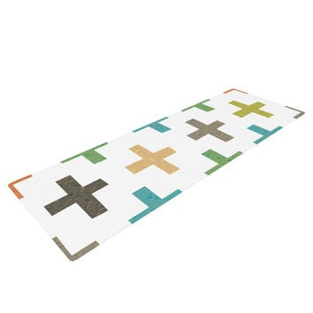 "Daisy Beatrice ""Hipster Crosses"" Multicolor Yoga Mat"