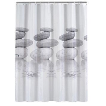 Waterproof Shower Curtain PEVA Mouldproof Printing Polyester Bath Curtain High Quality Bathroom Products With 12 Hooks Gift