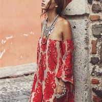 For Love & Lemons Precioso Dress in Red - Boutique To You