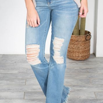 Dear John Distressed Flared Denim