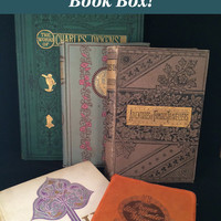 Decorative Vintage Book Mystery Box - Customized and Hand-picked