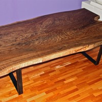 Reclaimed/salvaged Claro Walnut dining table