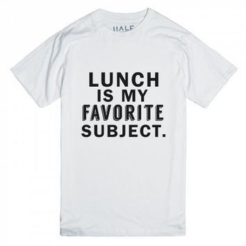 Lunch is My Favorite Subject