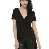 Cross-Panel Girls Top