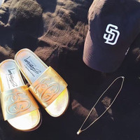 Stussy Link Leather Slide Sandal