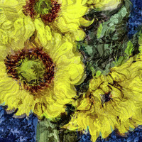Impressionistic Sunflowers by Susan Eileen Evans