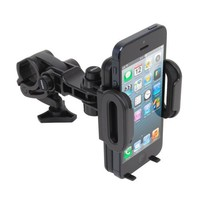 Satechi® Universal Car Holder & Mount for iPhone 6 Plus/6/5S/5C, iPod Touch 5G/4G, Samsung Galaxy S6/S6 Edge/S5/S4, Note 5/4, LG G4, Nexus 6P/5X, HTC One M9/M8, Lumia 950, OnePlus 2/One, on Windshield & Dashboard (Bike Holder)